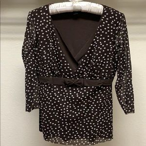 I.N.C International Concepts Sheer Polka Dots Tops
